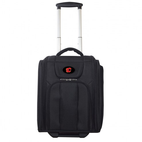 Calgary Flames Wheeled Business Tote Laptop Bag