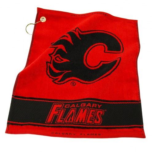 Calgary Flames Woven Golf Towel
