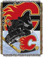 Calgary Flames Woven Tapestry Throw Blanket