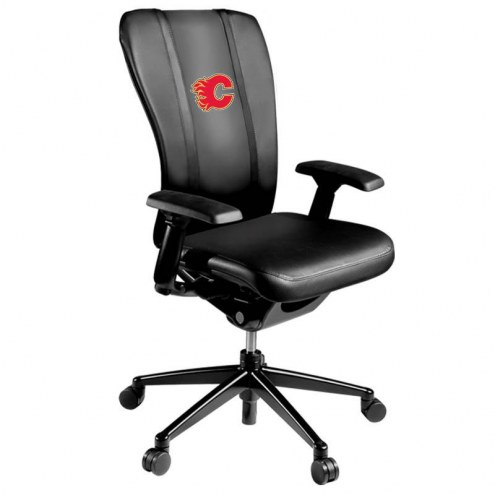 Calgary Flames XZipit Curve Desk Chair with Red Logo