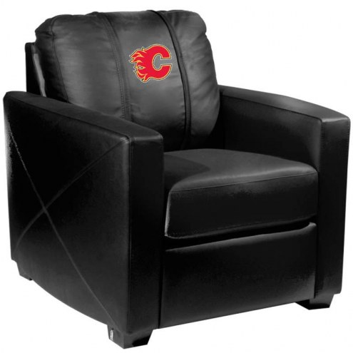 Calgary Flames XZipit Silver Club Chair with Red Logo