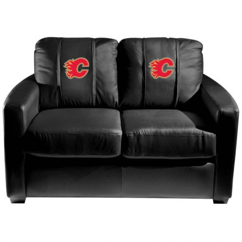 Calgary Flames XZipit Silver Loveseat with Red Logo