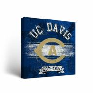 California Davis Aggies Banner Canvas Wall Art