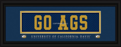 """California Davis Aggies """"Go Ags"""" Stitched Jersey Framed Print"""