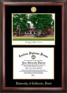California Davis Aggies Gold Embossed Diploma Frame with Lithograph