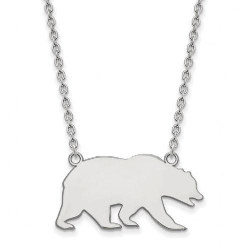 California Golden Bears 10k White Gold Large Pendant Necklace