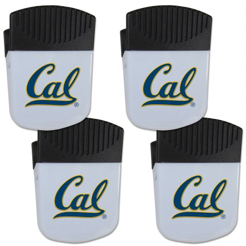 California Golden Bears 4 Pack Chip Clip Magnet with Bottle Opener