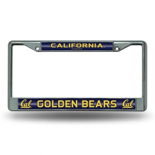 California Golden Bears Chrome Glitter License Plate Frame