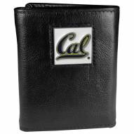 California Golden Bears Deluxe Leather Tri-fold Wallet in Gift Box