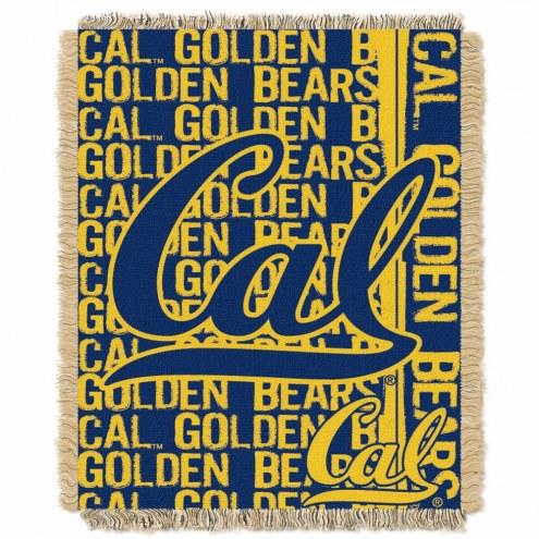 California Golden Bears Double Play Woven Throw Blanket