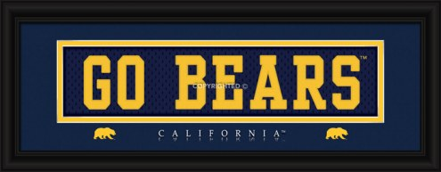 """California Golden Bears """"Go Bears"""" Stitched Jersey Framed Print"""