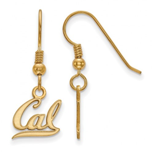 California Golden Bears Sterling Silver Gold Plated Extra Small Dangle Earrings