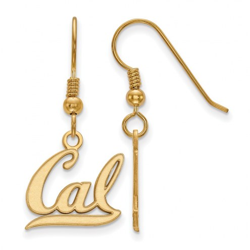 California Golden Bears Sterling Silver Gold Plated Small Dangle Earrings