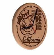 California Golden Bears Laser Engraved Wood Clock