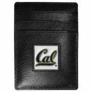 California Golden Bears Leather Money Clip/Cardholder in Gift Box