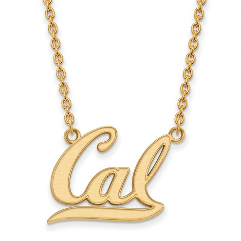 California Golden Bears Sterling Silver Gold Plated Large Pendant Necklace