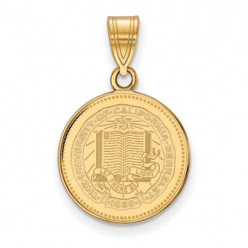 California Golden Bears Sterling Silver Gold Plated Medium Pendant