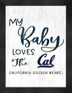 California Golden Bears My Baby Loves Framed Print