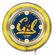 California Golden Bears Neon Clock