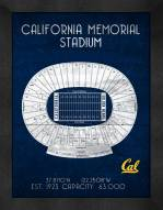 California Golden Bears Retro Stadium Chart Framed Print