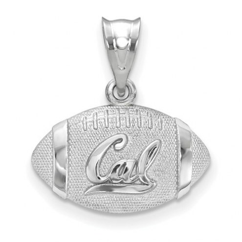 California Golden Bears Sterling Silver Football with Logo Pendant