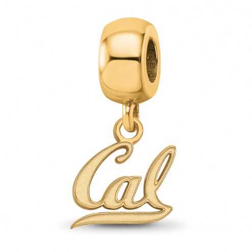 California Golden Bears Sterling Silver Gold Plated Extra Small Dangle Bead