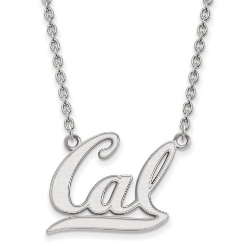 California Golden Bears Sterling Silver Large Pendant Necklace