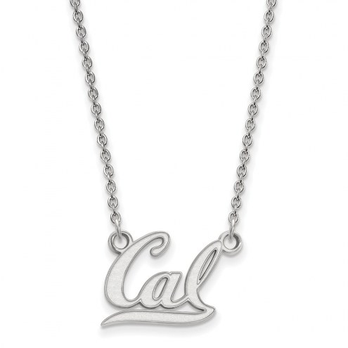 California Golden Bears Sterling Silver Small Pendant Necklace