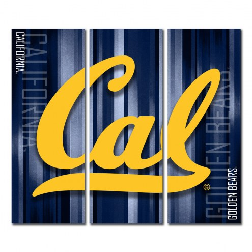 California Golden Bears Triptych Rush Canvas Wall Art