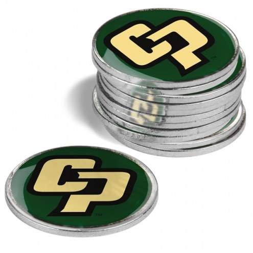 California Polytechnic State Mustangs 12-Pack Golf Ball Markers