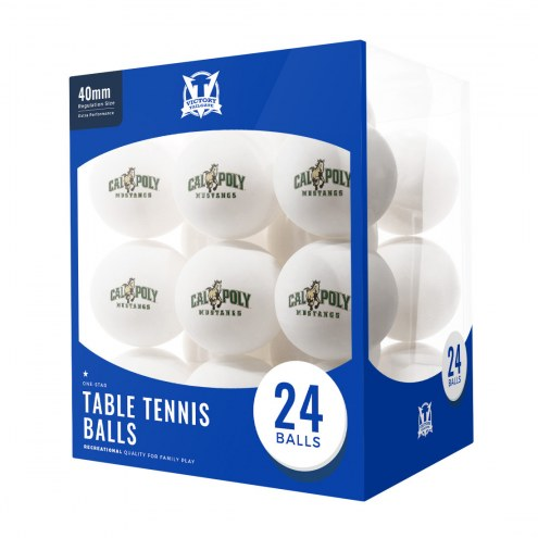 California Polytechnic State Mustangs 24 Count Ping Pong Balls