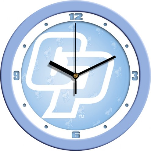 California Polytechnic State Mustangs Baby Blue Wall Clock