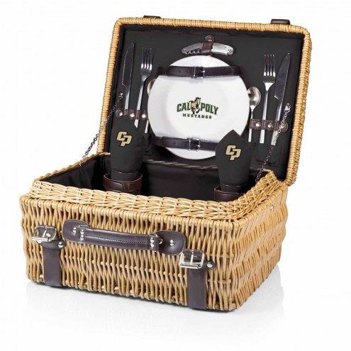 California Polytechnic State Mustangs Black Champion Picnic Basket