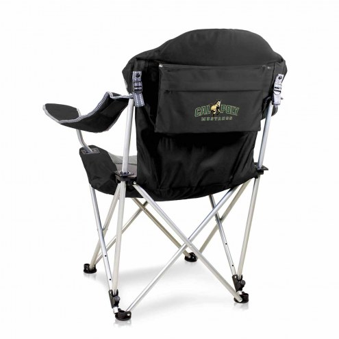 California Polytechnic State Mustangs Black Reclining Camp Chair