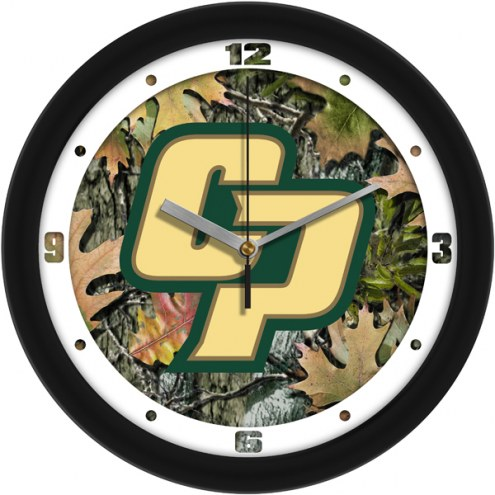 California Polytechnic State Mustangs Camo Wall Clock