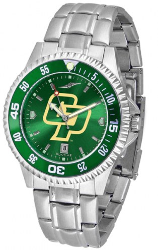 California Polytechnic State Mustangs Competitor Steel AnoChrome Color Bezel Men's Watch