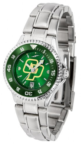 California Polytechnic State Mustangs Competitor Steel AnoChrome Women's Watch - Color Bezel
