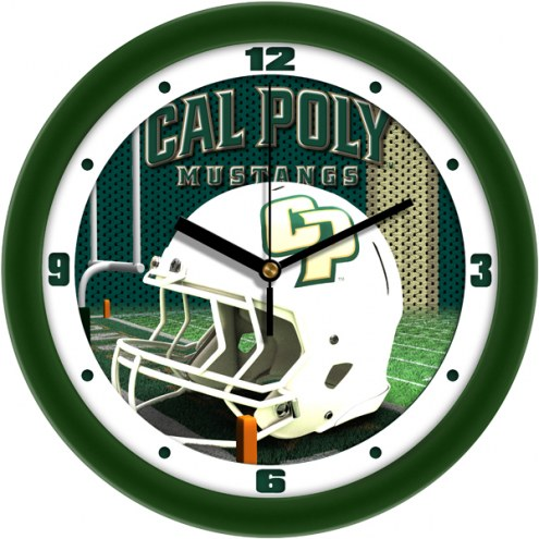 California Polytechnic State Mustangs Football Helmet Wall Clock