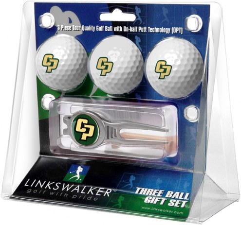 California Polytechnic State Mustangs Golf Ball Gift Pack with Kool Tool