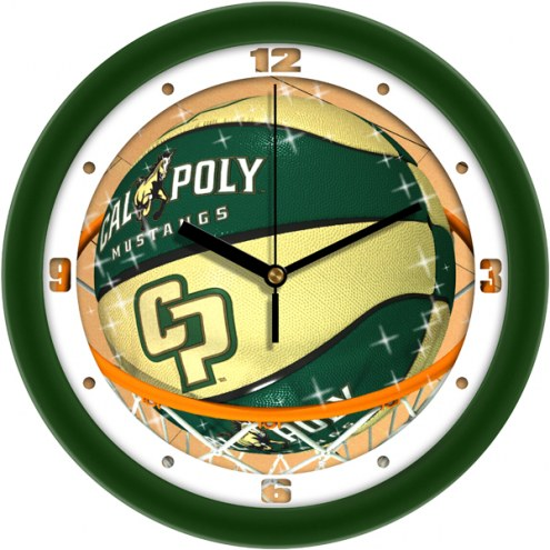 California Polytechnic State Mustangs Slam Dunk Wall Clock