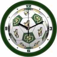 California Polytechnic State Mustangs Soccer Wall Clock