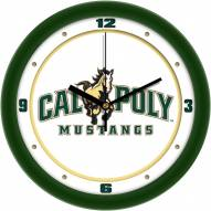 California Polytechnic State Mustangs Traditional Wall Clock