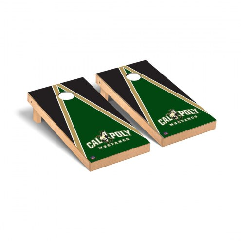 California Polytechnic State Mustangs Triangle Cornhole Game Set