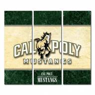 California Polytechnic State Mustangs Triptych Double Border Canvas Wall Art