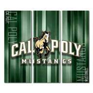 California Polytechnic State Mustangs Triptych Rush Canvas Wall Art