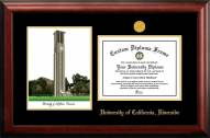 California Riverside Highlanders Gold Embossed Diploma Frame with Campus Images Lithograph