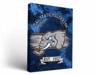 California State Fullerton Titans Banner Canvas Wall Art