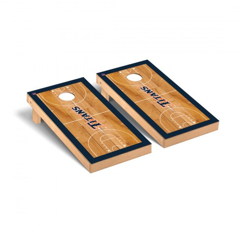 California State Fullerton Titans Basketball Court Cornhole Game Set