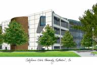California State Fullerton Titans Campus Images Lithograph