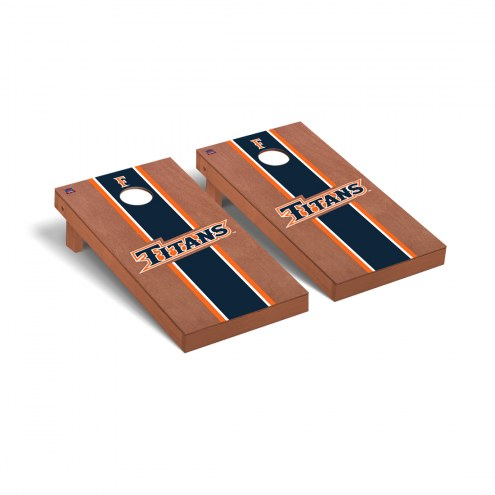 California State Fullerton Titans Rosewood Stained Cornhole Game Set